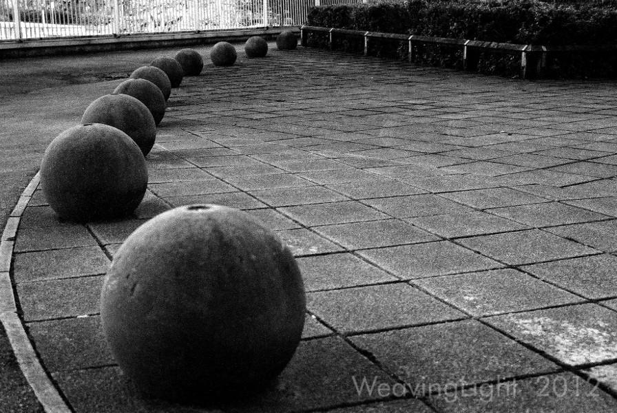 Concrete boulders