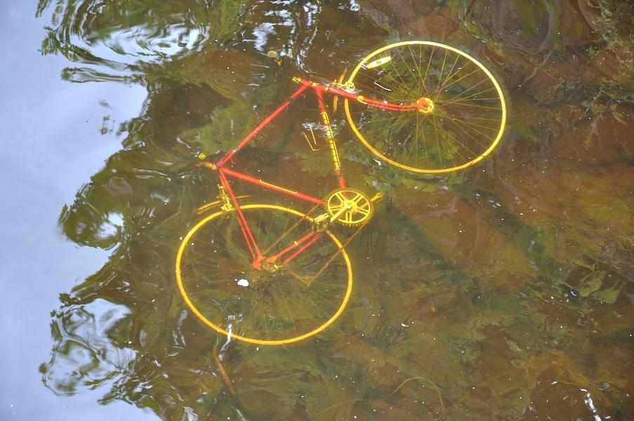 Bike in the river
