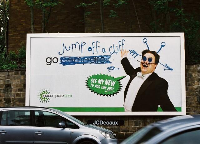 Go Compare billboard