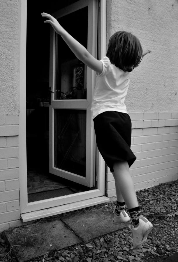 levitating to the back door