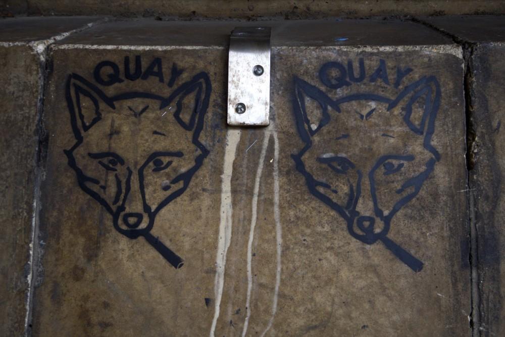 smoking fox graffiti