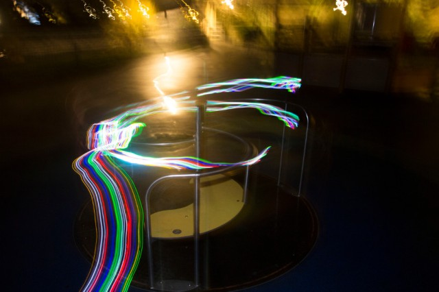 light trail roundabout
