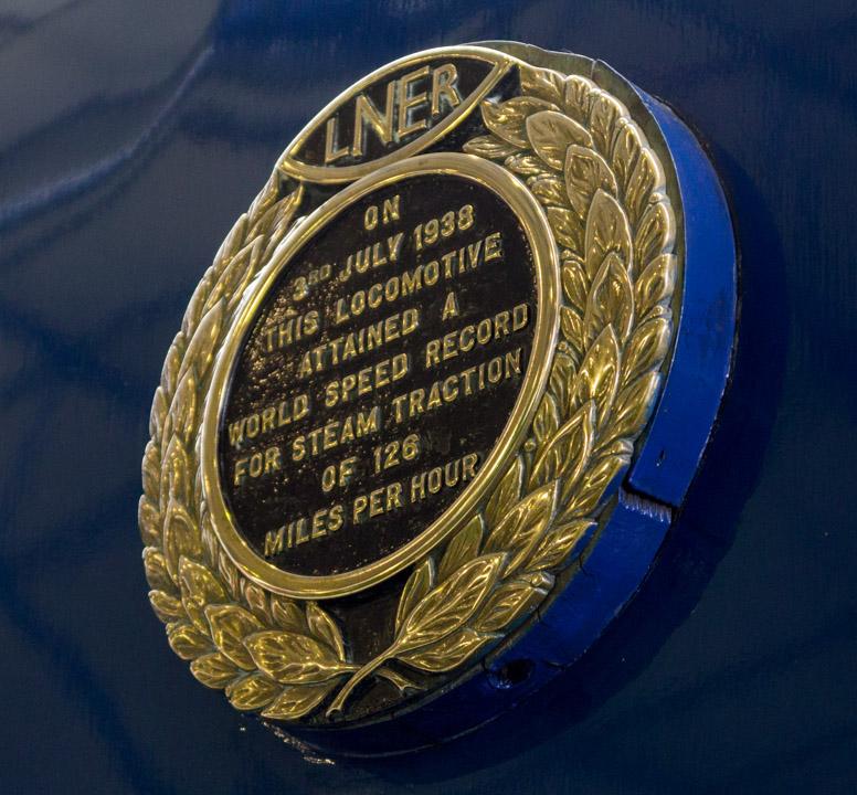 Mallard speed record plaque