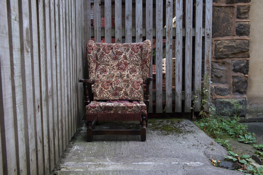 worn out chair