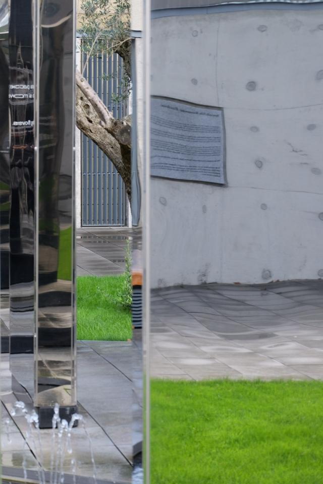 Mirrors St Andrews Cloister Garden