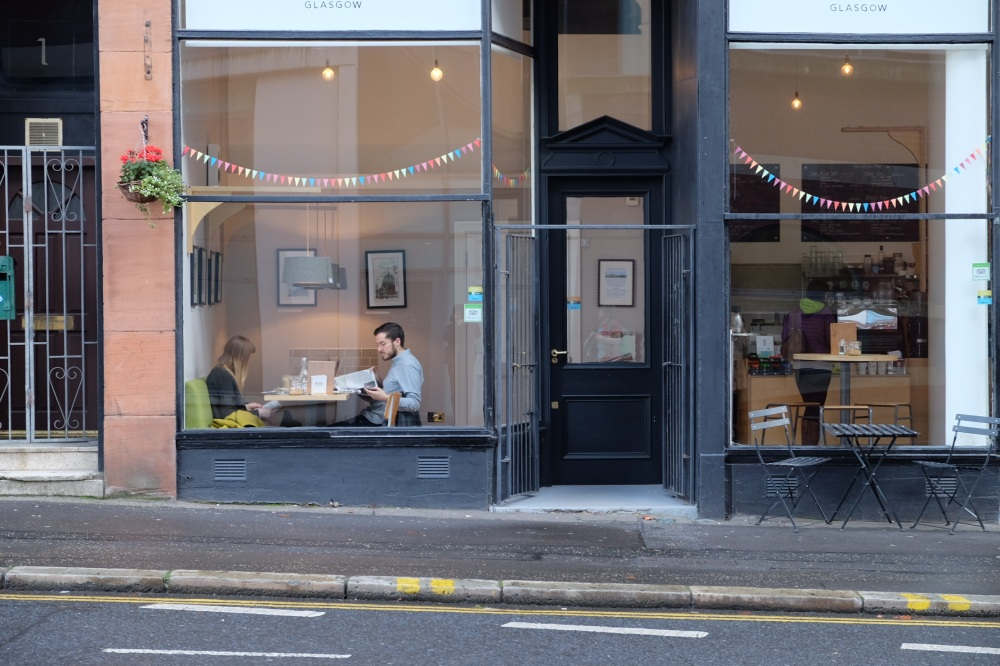 Glasgow Cafe Window
