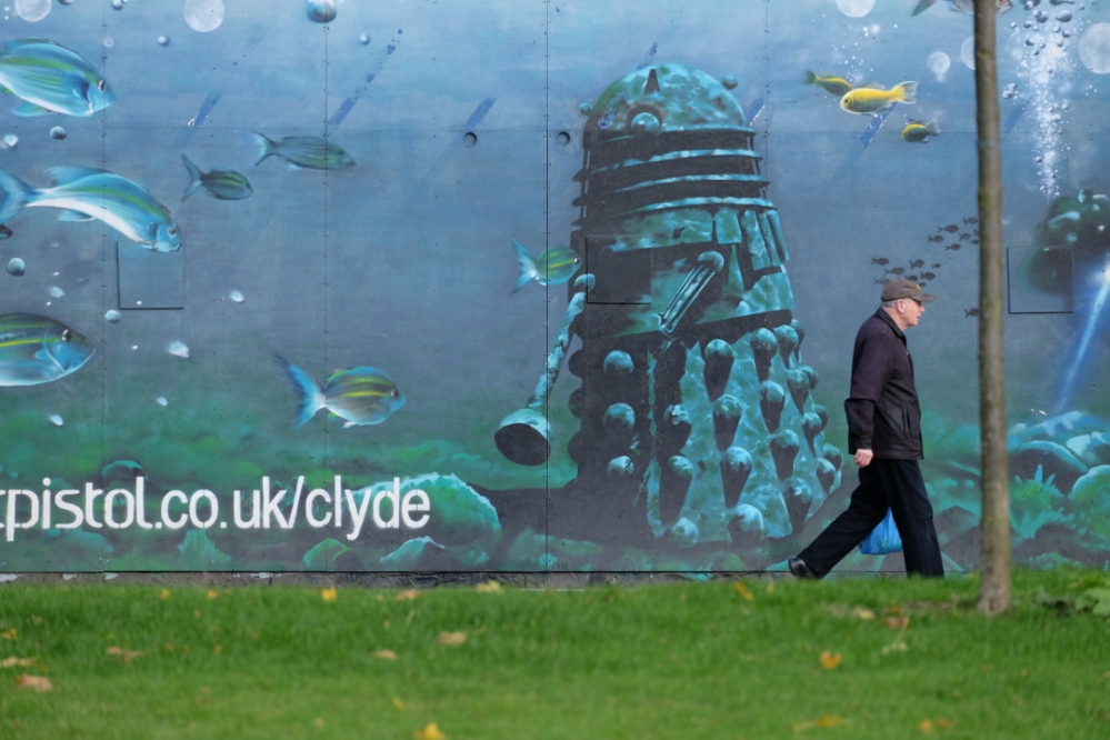 Dalek mural in Glasgow