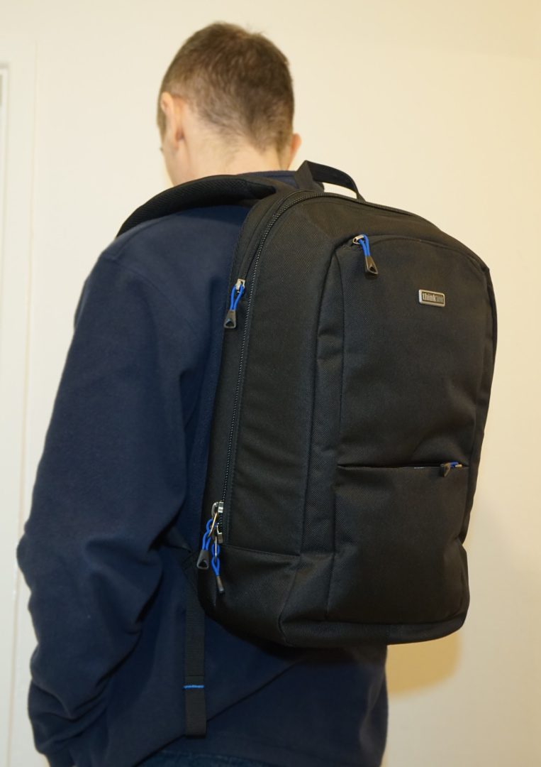 Think Tank Perception backpack in use