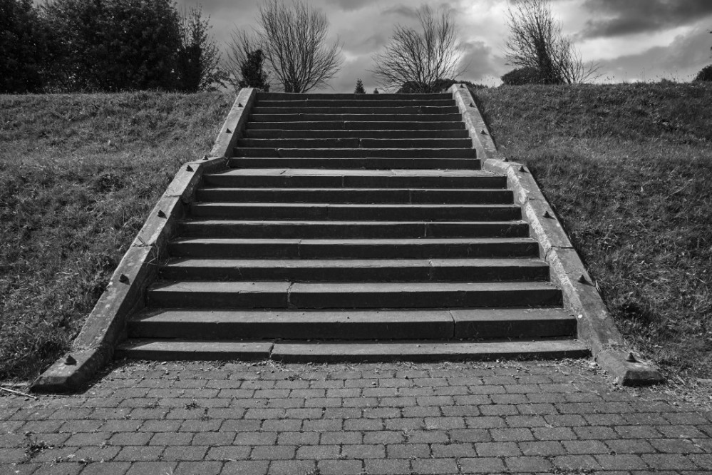 Steps at Undercliffe Cemetery