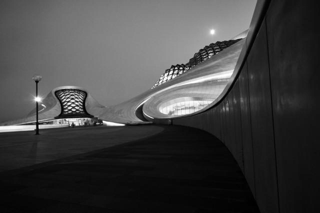 Harbin Grand Theatre Black and White
